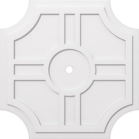 Ekena Millwork CMP38HS-02000 38 in. OD x 2 in. ID Square Haus Architectural Grade PVC Contemporary Ceiling Medallion - image 1 of 1