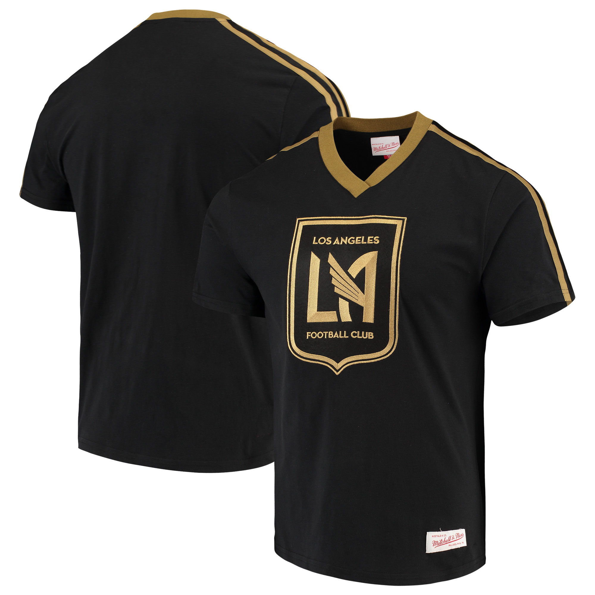 LAFC Mitchell & Ness Overtime Win V-Neck T-Shirt - Black