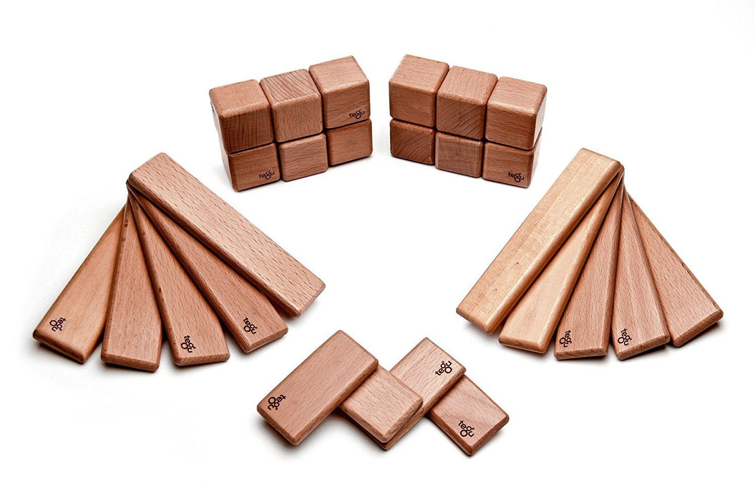 26 Piece Tegu Discovery Magnetic Wooden Block Set, Mahogany by Tegu