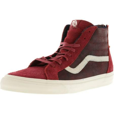 Vans Mens Sk8 Hi Zip Dx Varsity Red High Top Skateboarding Shoe   13M