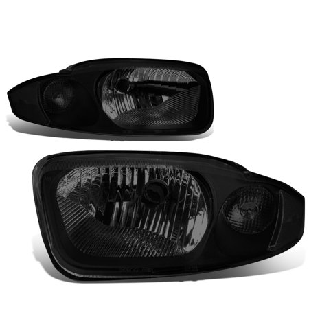 For 03 05 Chevy Cavalier Pair Of Headlight Lamp  Smoked Lens Clear Corner  3Rd Gen