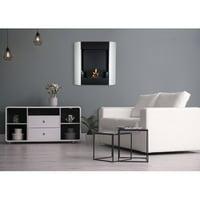 Nu-Flame Focolare Muro Bianco Wall Mounted Bio-Ethanol Tabletop Fireplace