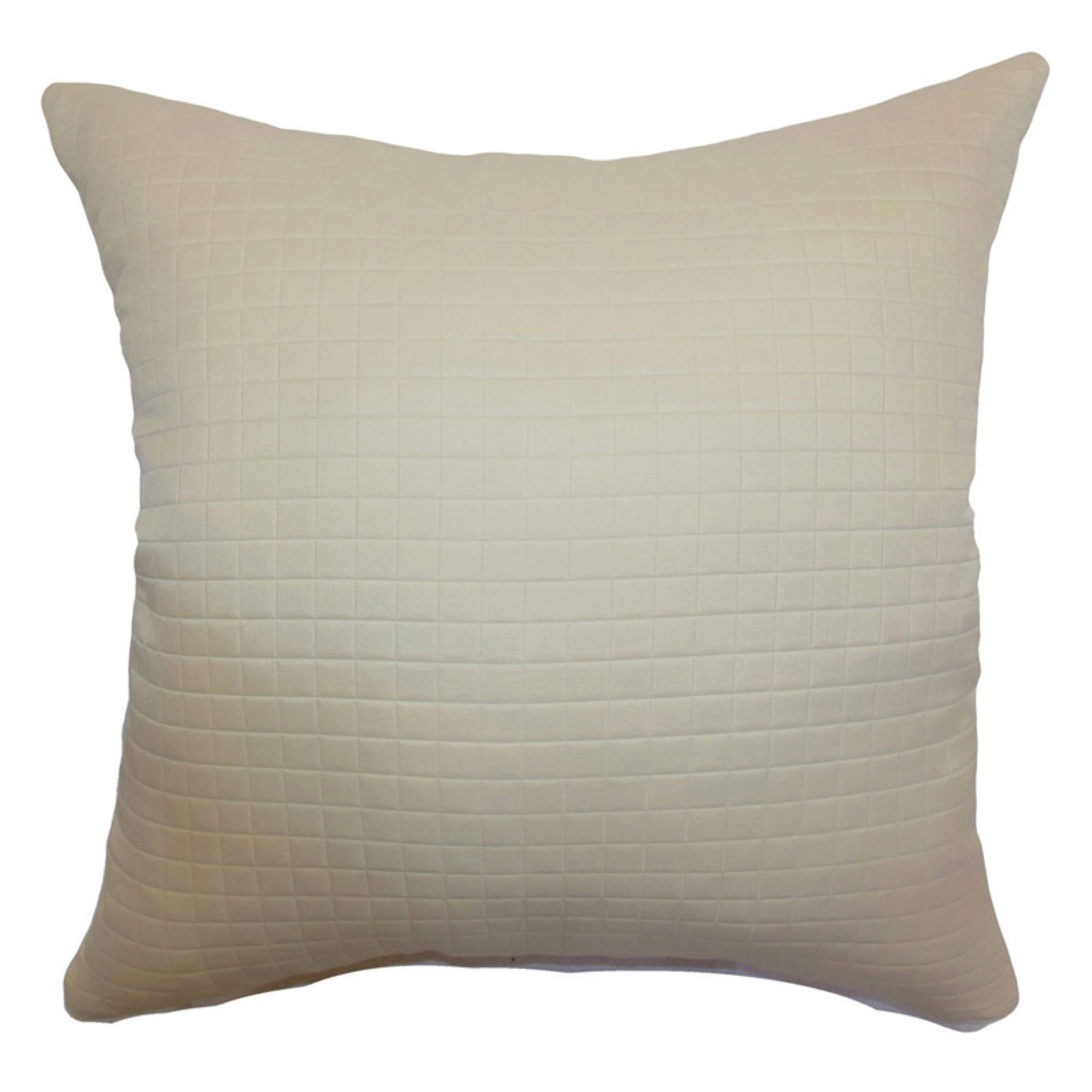The Pillow Collection Obadiah Quilted Pillow - Creme
