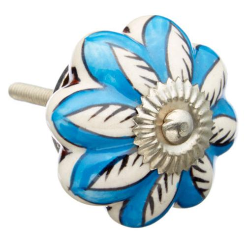 Shabby Restore Very Blue Design Ceramic Drawer/ Door/ Cabinet Knob (Pack of 6)