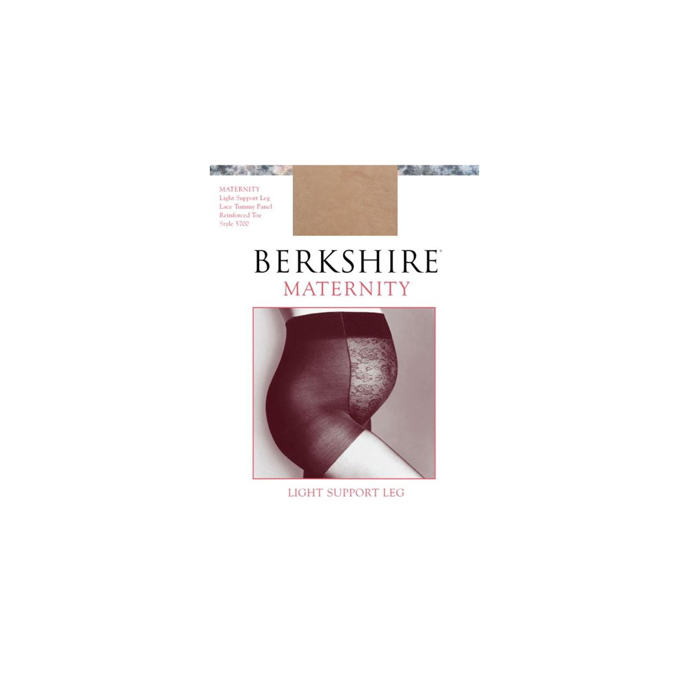 Berkshire Maternity Light Support Reinforced Toe Pantyhose