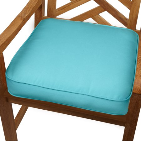 Humble And Haute Aruba Blue Indoor Outdoor 20 Inch Chair Cushion