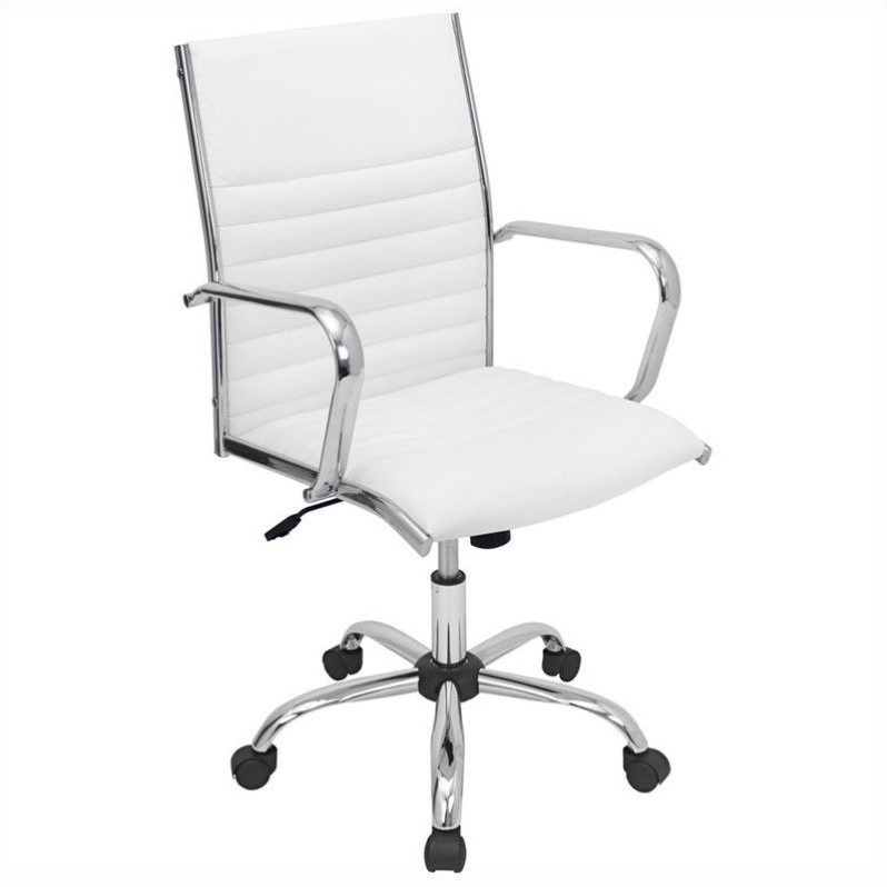 LumiSource Master Office Chair, White