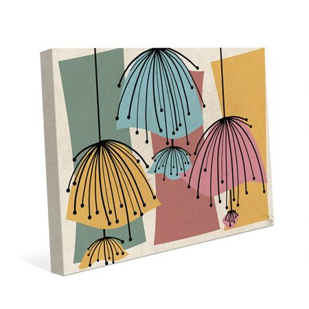 Click Wall Art Lazy Lamps Graphic Art on Wrapped Canvas