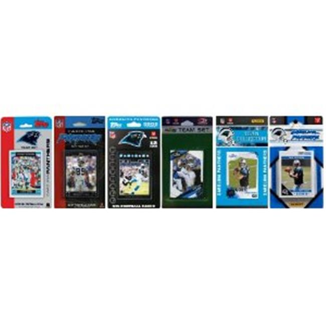 C & I Collectables PANTHERS611TS NFL Carolina Panthers 6 Different Licensed Trading Card Team Sets
