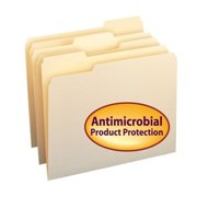 Smead SMD10338 File Folder With Antimicrobial Product Protection - Manila