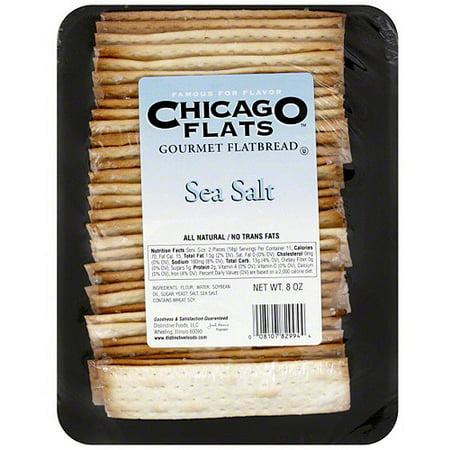 Chicago Flats Sea Salt Flatbread, 8 oz (Pack of 10)