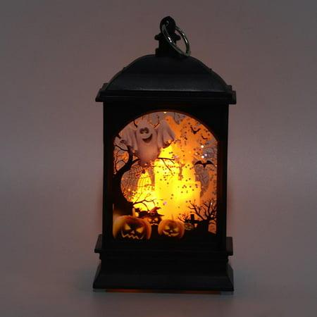 Ccdes Halloween Vintage Pumpkin Castle LED Lantern Night Light Lamp Party Hanging Decor , Halloween Night Light, Halloween LED