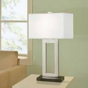 "Artiva USA 28"" Geometric Modern Chrome/Black Table Lamp"