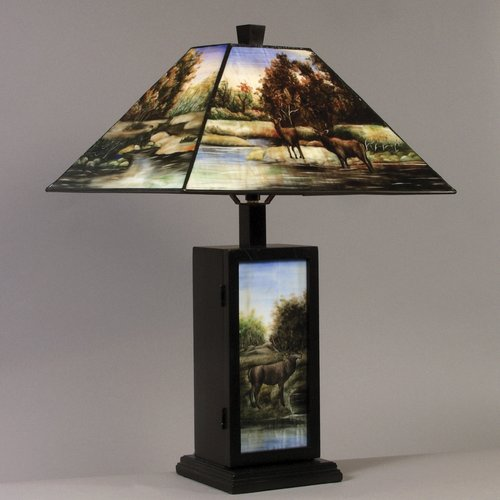 AA Importing Hand Painted Deer 23'' Table Lamp