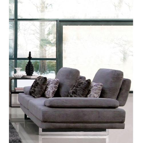 Luca Home Grey Loveseat