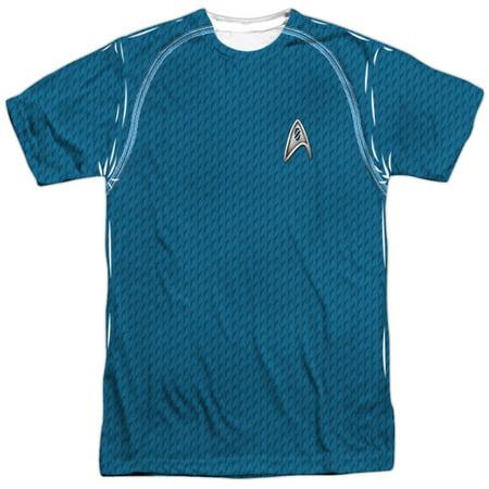 Star Trek Movie Science Uniform (Front Back Print) Mens Sublimation Shirt - Star Trek Movie Uniforms