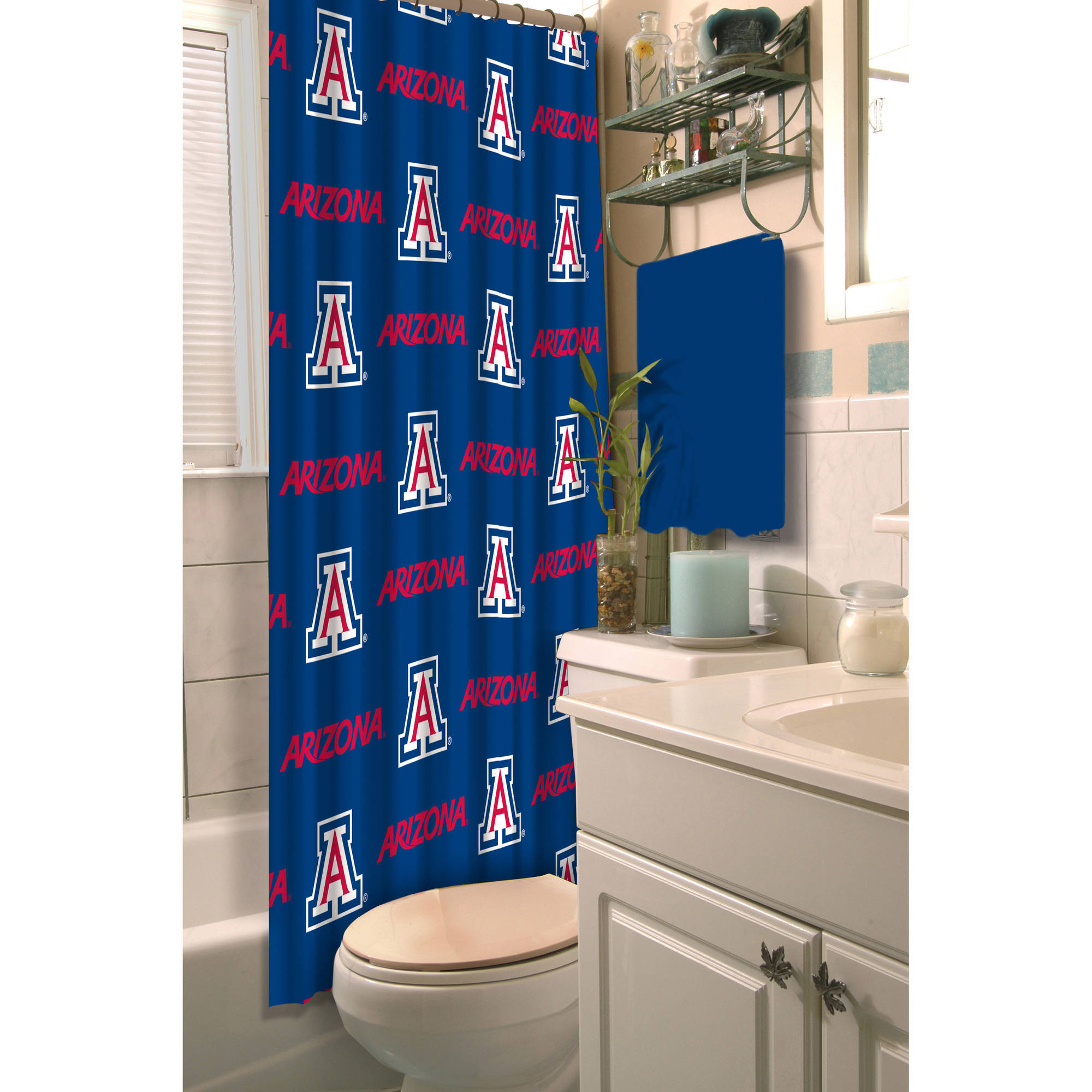 NCAA Arizona Wildcats Shower Curtain, 1 Each