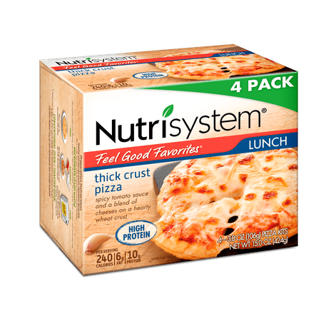 Nutrisystem Feel Good Favorites Thick Crust Cheese Pizza, 3.8 Oz, 8CT