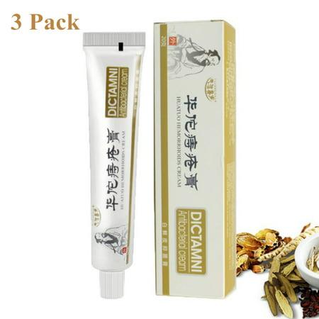 Fymall 3Pack Chinese Herbal Medicine HuaTuo Hemorrhoids Cream Anus Prolapse Anal Fissure Antibacterial