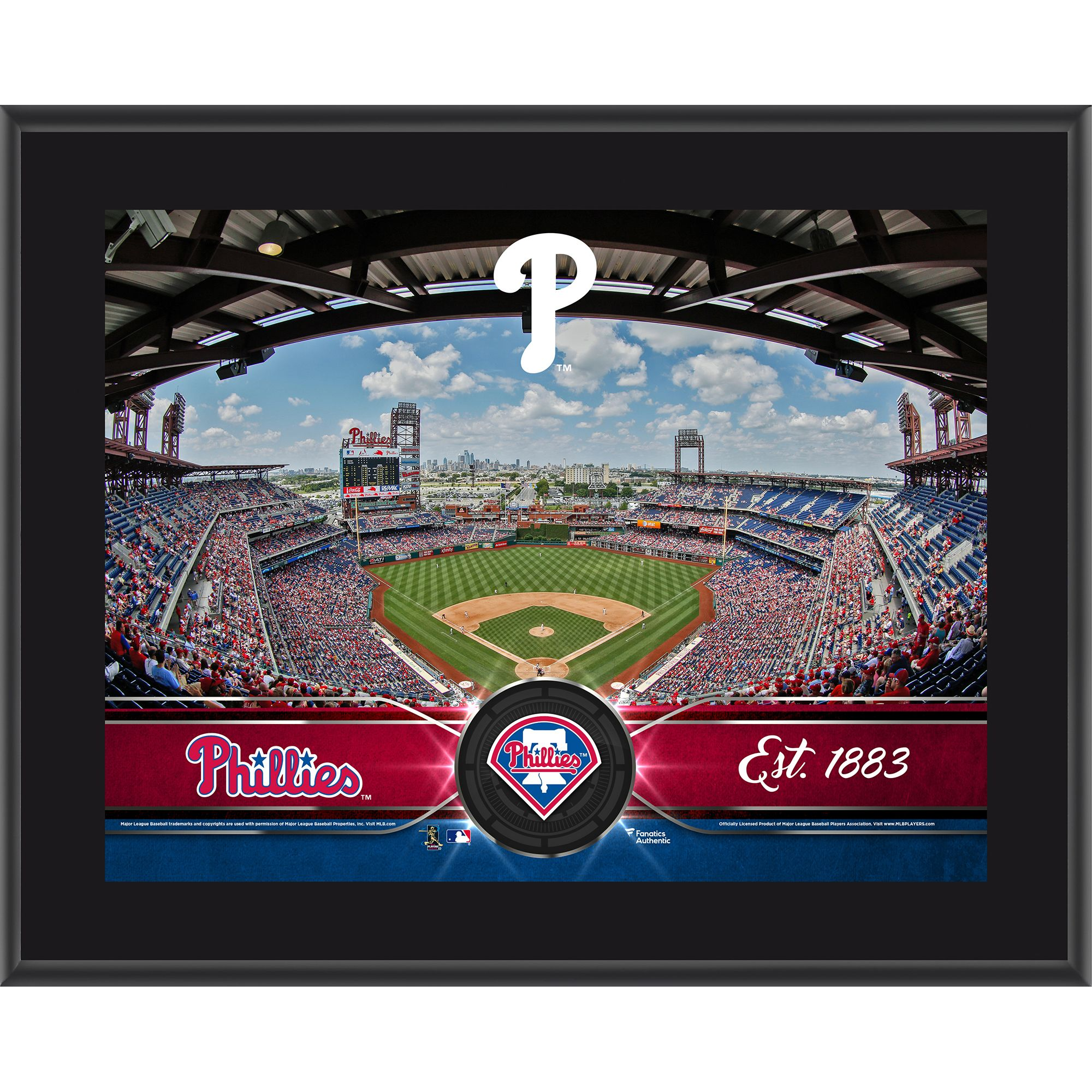 "Philadelphia Phillies Fanatics Authentic 10.5"" x 13"" Sublimated Team Plaque - No Size"