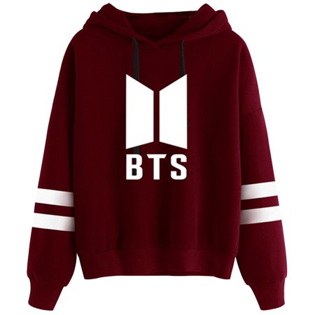 Fancyleo New Fashion BTS LOVE YOURSELF Women Hoodies Sweatshirts Casaul K pop Fans Printed Bts Sweatshirt Long Sleeve Hooded Pullover Sweatshirt