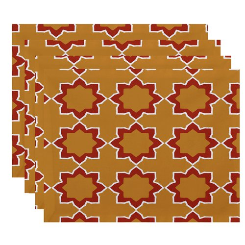 Bungalow Rose Meetinghouse Bohemian 2 Geometric Print Placemat (Set of 4)