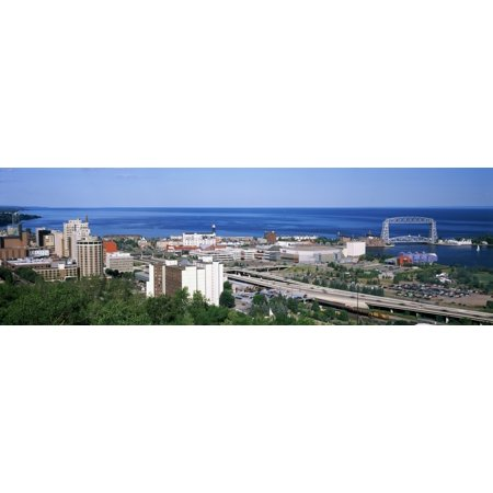 City at the waterfront Lake Superior Duluth Minnesota USA Stretched Canvas - Panoramic Images (6 x 18)