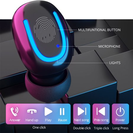 Stereo Wireless Bluetooth Earbud. Sweatproof Headset . Built-in Mic for Android and iPhone Smart Phones.(with Charging Case) - image 16 of 17