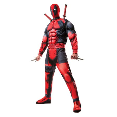 Adult Deluxe Fiber Filled Deadpool Costume