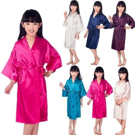 Meihuida - Kids Silk Satin Short Kimono Robes Dressing Gown Girl Sleepwear  Bathrobe - Walmart.com c4a8ef59a