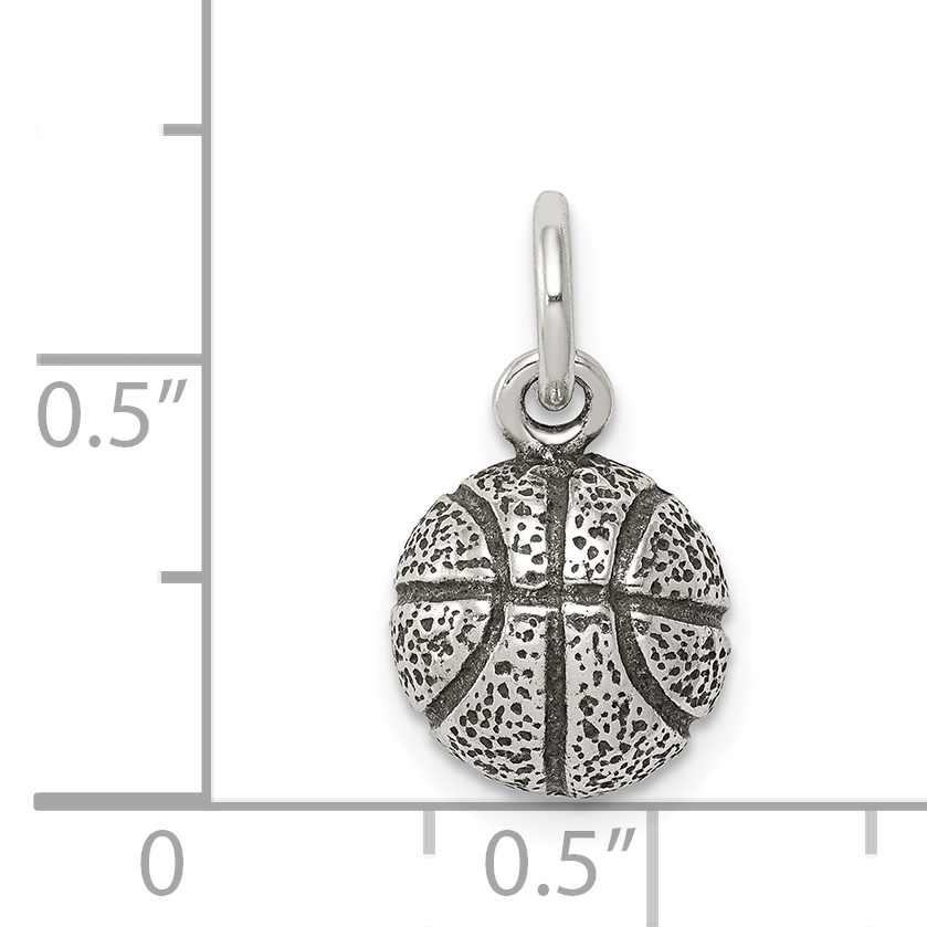925 Sterling Silver Basketball Pendant Charm Necklace Sport Fine Jewelry Gifts For Women For Her - image 1 of 2