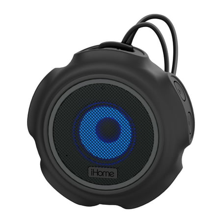 iHome iBT822 Portable Waterproof Color Changing Bluetooth