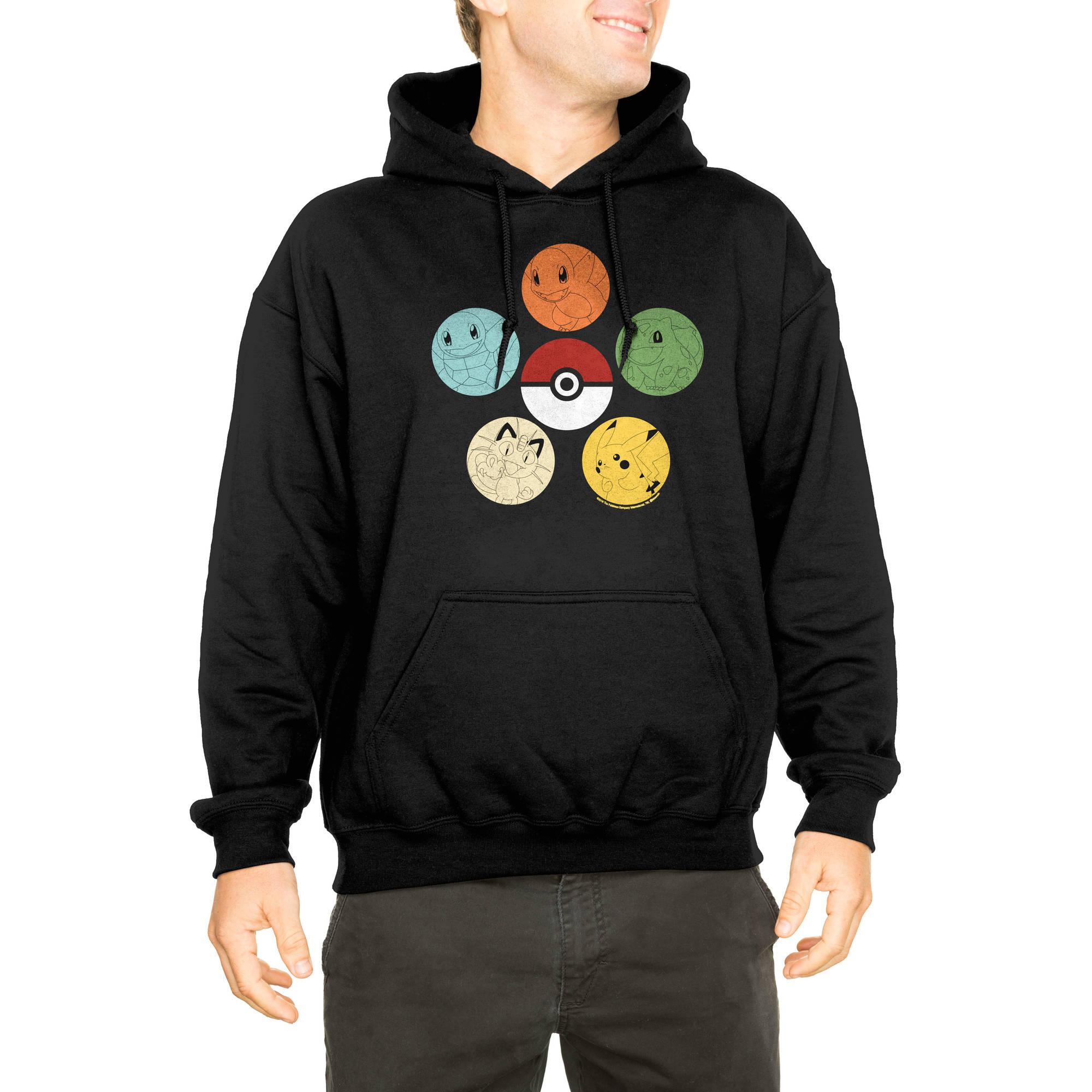 Pokemon Men's Poke Ball Pullover Fleece Hoodie
