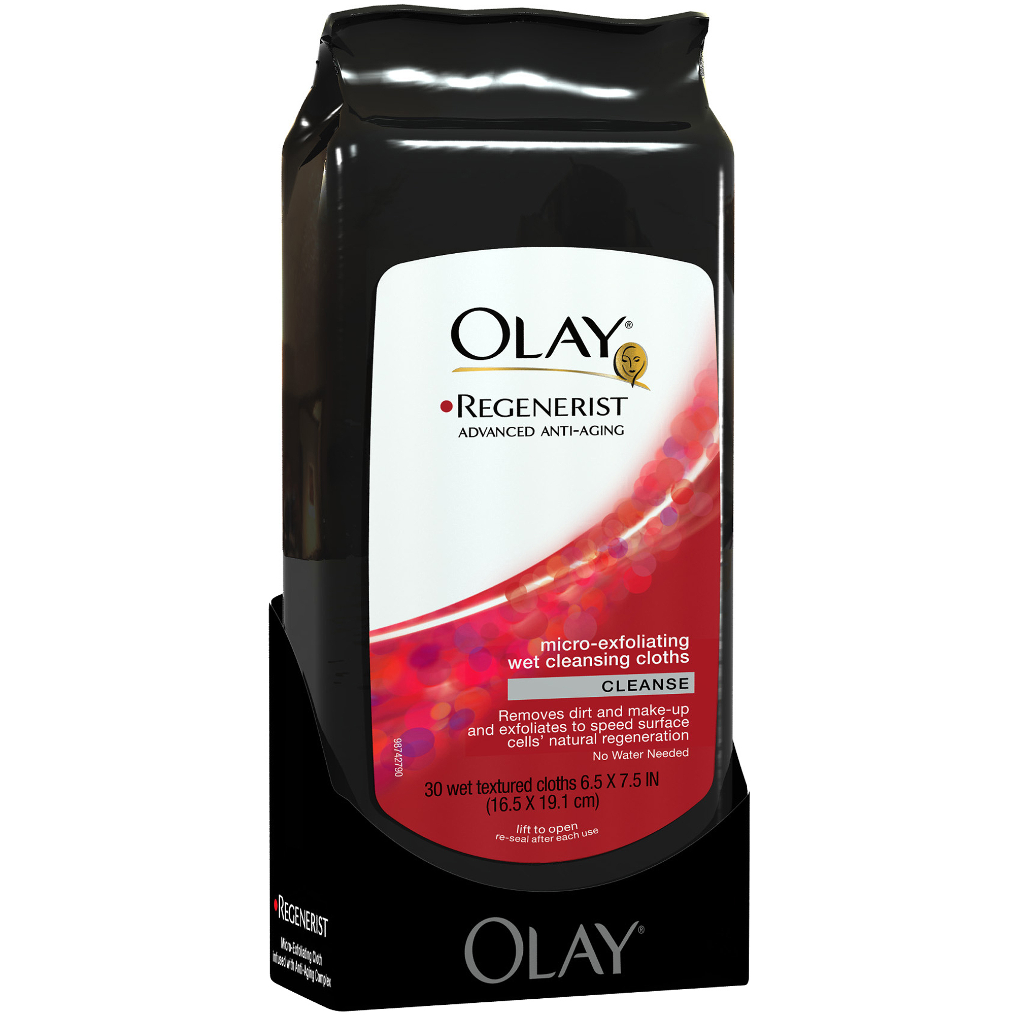 Olay Regenerist Micro-Exfoliating Facial Wet Cleansing Cloths 30 Count