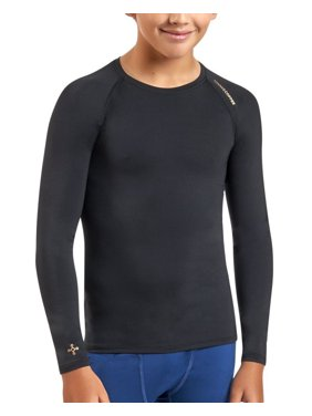 49368b7d Product Image Tommie Copper Boy's Core Long Sleeve Raglan Crewneck T-Shirt  Medium Black