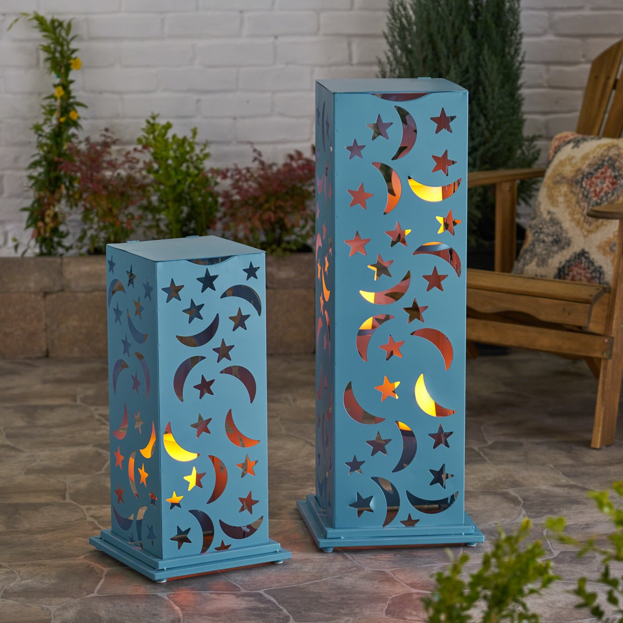 Christopher Knight Home Romeo Outdoor Cutout Lantern (Set of 2) by