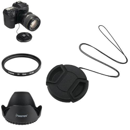 Insten For Nikon D5100 D3100 52mm Lens Hood+Cap+UV Filter+Gift