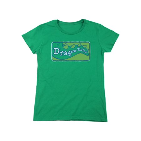 Dragon Tales Animated PBS Series Show Logo Clean On Green Women's T-Shirt
