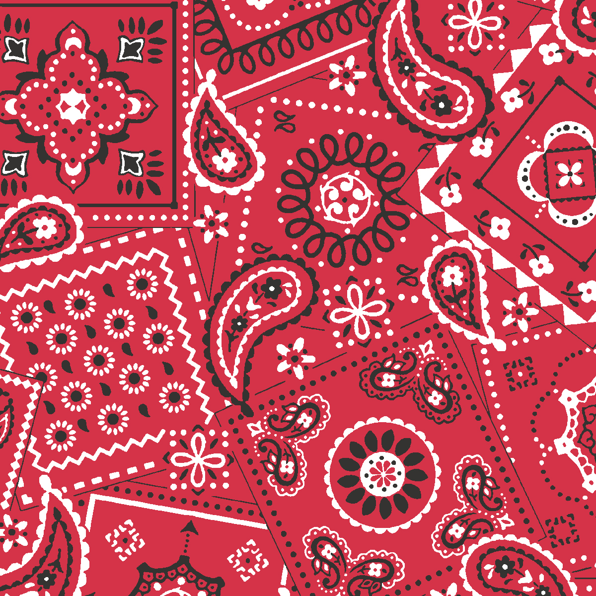 Waverly Inspirations Bandana Poppy 100% Cotton Print Fabric 44'' Wide, 140 Gsm, Quilt Crafts Cut By The Yard