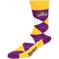 East Carolina Pirates For Bare Feet Argyle Logo Crew Socks