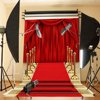 MOHOO 5x7FT Red Carpet Curtain Backdrop Studio Vinyl Photography Photo Background Prop