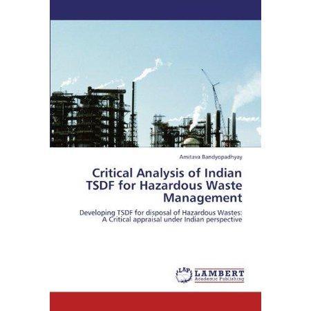 Critical Analysis Of Indian Tsdf For Hazardous Waste Management