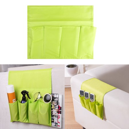 Sofa Arm Rest Storage Bag, Armrest Organizer Couch Chair Durable Non-woven and Super Soft Pongee Fabric Organiser for TV Remote Control Magazine Book Newspaper Phone Holder Storage Bag ()