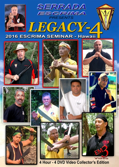 4 DVD SET Serrada Escrima Legacy 4 Seminar Hawaii by