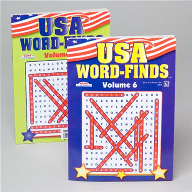RGP 1304P Word Find Usa 96 Page 2 Title, Pack Of 24