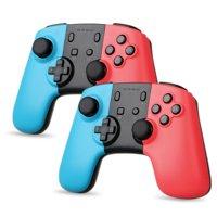 TSV 2/1Pack Wireless Controller for Nintendo Switch/Switch Lite, Wireless Remote Pro Controller Joypad Gamepad for Nintendo Switch Console Red & Blue