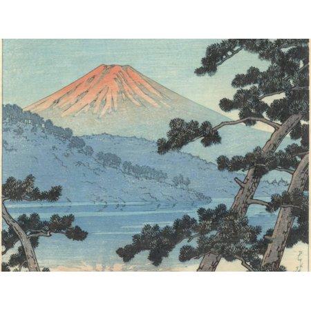 Asian Landscape Design (Mount Fuji Asian Mountain Landscape Art Print Wall Art By Kawase)