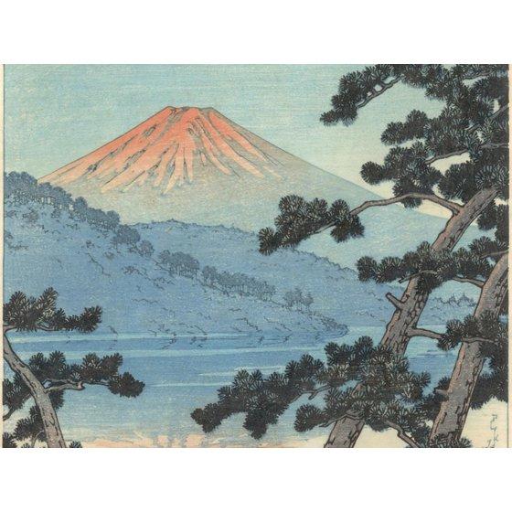 Mount Fuji Asian Mountain Landscape Art Print Wall Art By Kawase Hasui