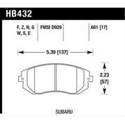 Hawk 03-05 WRX / 08 WRX D929 Performance Ceramic Street Front Brake Pads