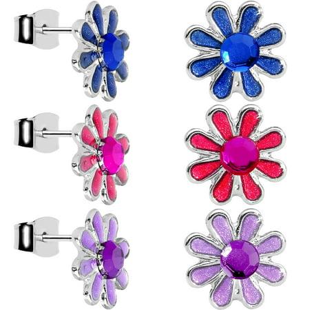 6mm Perfect Daffodil Flower Stud Earring Set